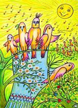Singvögel (Poster, ca. A4)