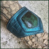 Gumbo Spitze Türkis metallic
