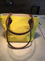 Handtasche gelb mit Ledergriff