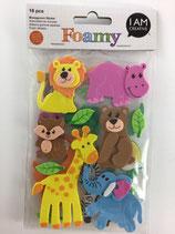 Foamy Moosgummi Sticker (Zootiere)