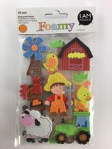 Foamy Moosgummi Sticker (Bauernhoftiere)