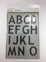 Schablone Buchstaben 6cm Ce