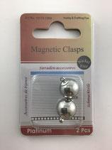 Magnetverschluss rund platinium