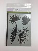 Schablone 4 Blätter Ce