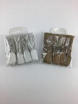 Papier Etiketten klein mit Gummifaden