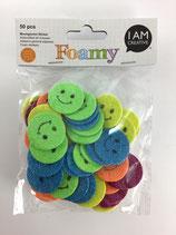 Foamy Moosgummi Sticker (Smile)