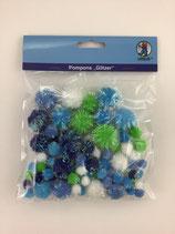 Pompons Blaumix Glitter Bä