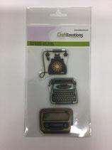 Silikonstempel  Telefon Radio