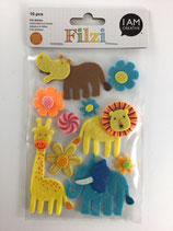 Filzi Filz Sticker (Zootiere, Blumen)