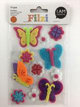 Filzi Filz Sticker (Schmetterling, Blumen)