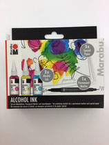 Alcohol Ink Set (Magenta, Zitron, Karibik)