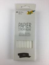 Papierstrohhalme Weiss