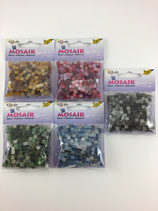Kunststoff Mosaik glitter 5x5mm