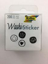 Washi Sticker (Smile Black/White)
