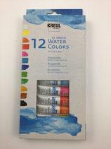 Aquarell Water Color 12 Tuben Kreul