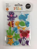 Filzi Filz Sticker (Meerestiere)