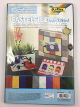 Bastelfilz Mix Selbsklebend  20x30cm  10Stk Fo