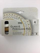 Glas und Porzellan Stifte- Set