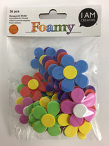 Foamy Moosgummi Sticker (Blumen)