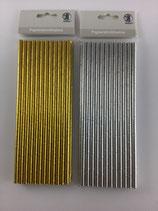Papierstrohhalme Gold Silber