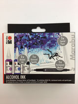 Alcohol Ink Set (Amethyst, Enzian, Diamant)