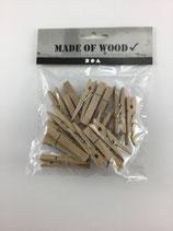 Holzklammern Natur 4.8cm C 25 Stk