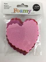 Foamy Moosgummi Sticker (Herz)