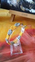 Bracelet macramé Jaouen - motif feuilles