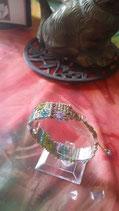 Bracelet macramé avec perles -  style aztèque