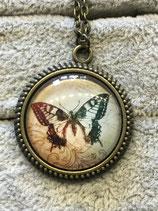 """Anhänger """"Schmetterling"""" antik mit Kette"""
