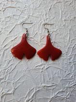 Gingkoblatt handgeschnitzt aus Taguablatt in Natur in Röt
