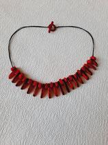 Halskette ''Prainha''  in Röt