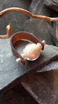 RING Kautschuk - Glasperle kristall