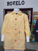 00060022 Babi colegio raya amarilla  CON OJALES Y BOTONES DE COLORES.