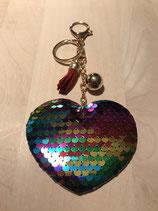 Taschen Anhänger Pailletten Herz