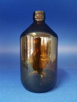 1000ml Veralflasche aus Braunglas PP28
