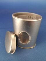 Gewürzstreuer oval mit grauem Kunststoffeinsatz