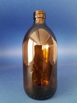500ml Sirupflasche aus Braunglas PP28