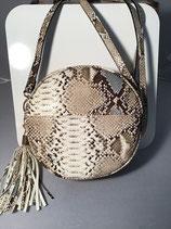 Snake Skin Round Crossbody Bag