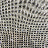 ★ COUPON LIN QUADRILLE STRASS 50X80CM★