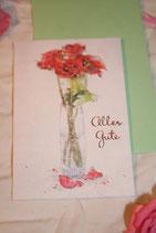 """Billet """"Alles Gute mit Vase"""" klein"""
