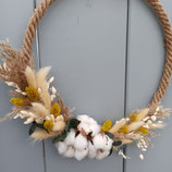"Flower-Hoop ""Cottonfields"""