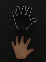 Ausstechform Hand