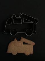 Präge-Ausstechform Feuerwehrauto