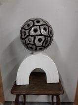 Lampe art deco craquele eclairage intérieur hauteur  49 cm Largeur 34 cm