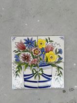 Fresque Faience de Desvres 26cm ×26 cm signé Desvres