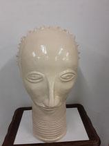 Africain Faience de Desvres Hauteur 44 cm