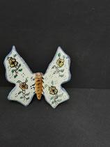 Papillon Faience de Desvres Hauteur 11cm Largeur 10cm