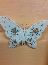 Papillon 8 Faience de Desvres Hauteur 13 cm Largeur 13 cm s accroche avec une simple vis