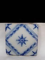 Ancien Carreau numéro 62 Faience de Desvres 11,5 cm ×11,5 cm